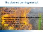 the planned burning manual