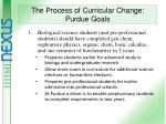the process of curricular change purdue goals