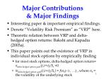 major contributions major findings