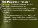 cell membrane transport1