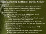 factors affecting the rate of enzyme activity2