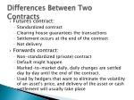 differences between two contracts