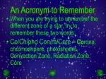 an acronym to remember