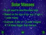 solar masses
