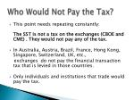 who would not pay the tax