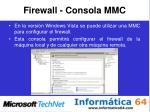 firewall consola mmc