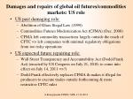 damages and repairs of global oil futures commodities markets us role