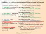 evolution of pricing mechanisms at international oil market