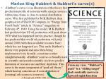 marion king hubbert hubbert s curve s