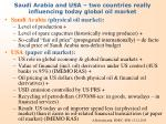 saudi arabia and usa two countries really influencing today global oil market