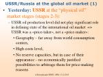 ussr russia at the global oil market 1