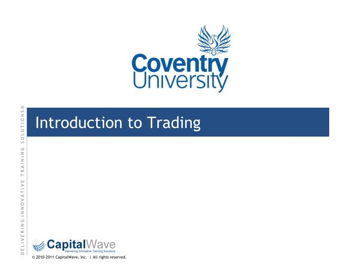 introduction to trading n.