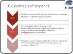 biosynthesis of terpenes1