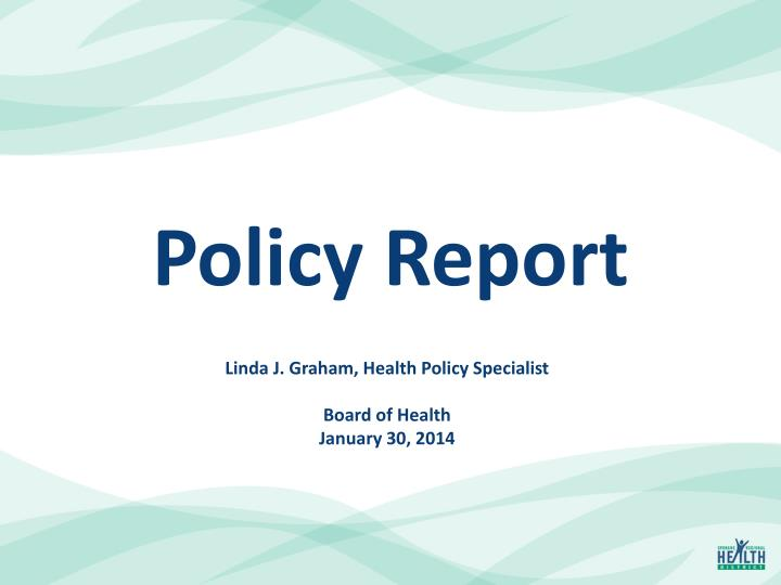 policy report n.