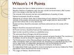 wilson s 14 points