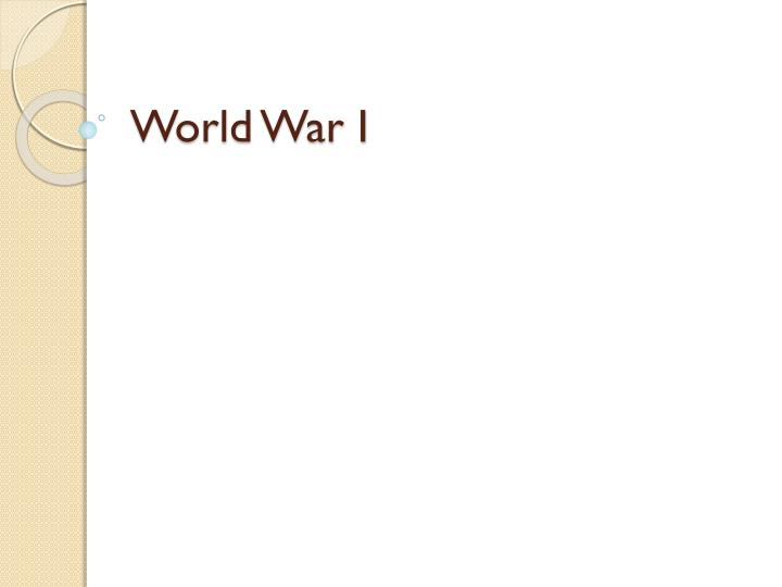 world war i n.