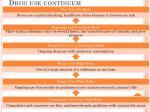 drug use continuum