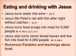 eating and drinking with jesus