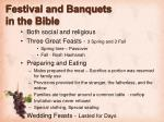 festival and banquets in the bible