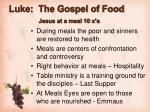 luke the gospel of food jesus at a meal 10 x s