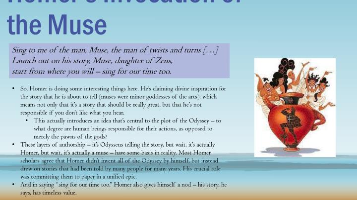 invocation of the muse homer