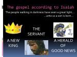 the gospel according to isaiah1