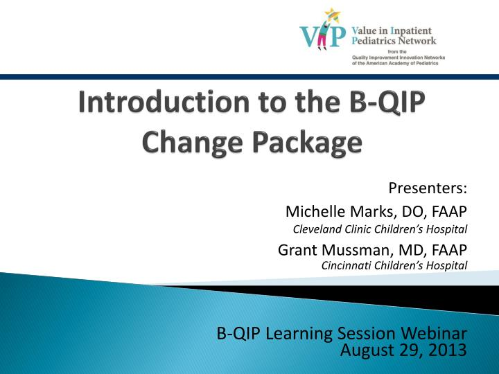 introduction to the b qip change package n.