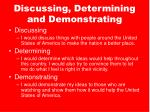 discussing determining and demonstrating