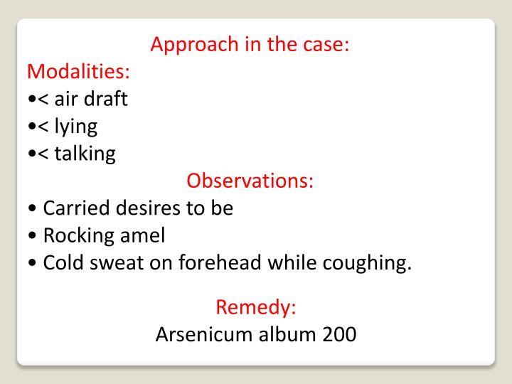 Approach in the case: