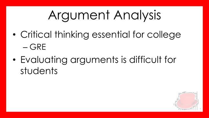 Argument analysis