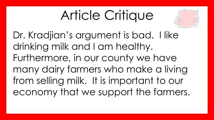 Article Critique