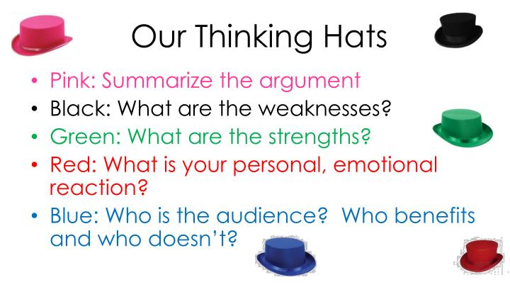 Our Thinking Hats