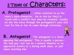 2 types of characters