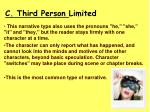 c third person limited