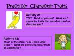 practice character traits