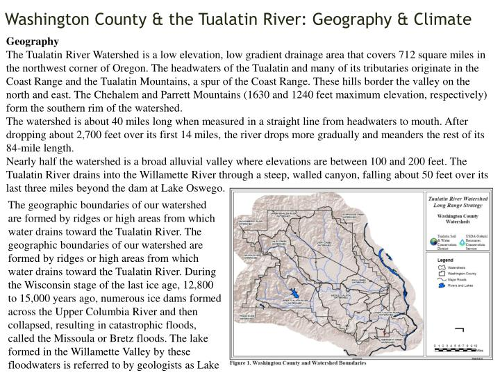 washington county the tualatin river geography climate n.