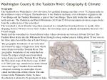 washington county the tualatin river geography climate