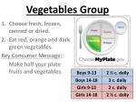 vegetables group