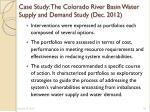 case study the colorado river basin water supply and demand study dec 20121