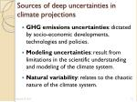 sources of deep uncertainties in climate projections