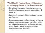 world bank s flagship report adaptation to a changing climate in the arab countries