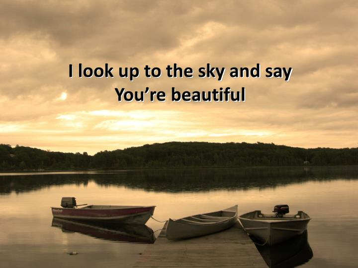 I look up to the sky and say