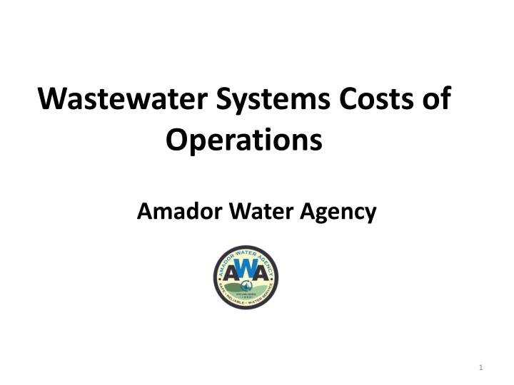 wastewater systems costs of operations n.