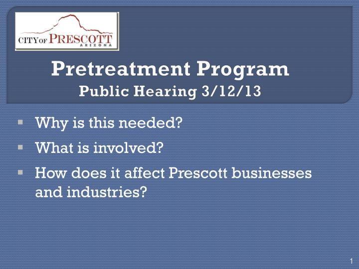 pretreatment program public hearing 3 12 13 n.