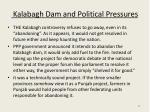 kalabagh dam and political pressures
