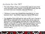 acclaim for the iwt