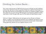 dividing the indus basin