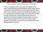 the indus and climate change
