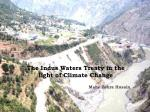 the indus waters treaty in the light of climate change