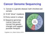 cancer genome sequencing